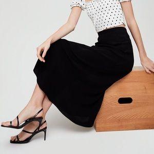 Aritzia Talula A-Line Midi Skirt